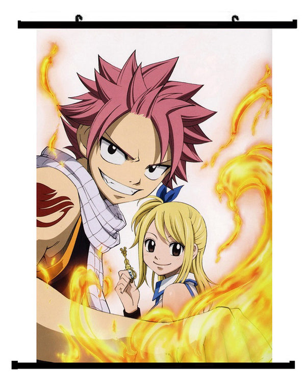 Anime Fairy Tail Luci & Natsu Wall Scroll 01