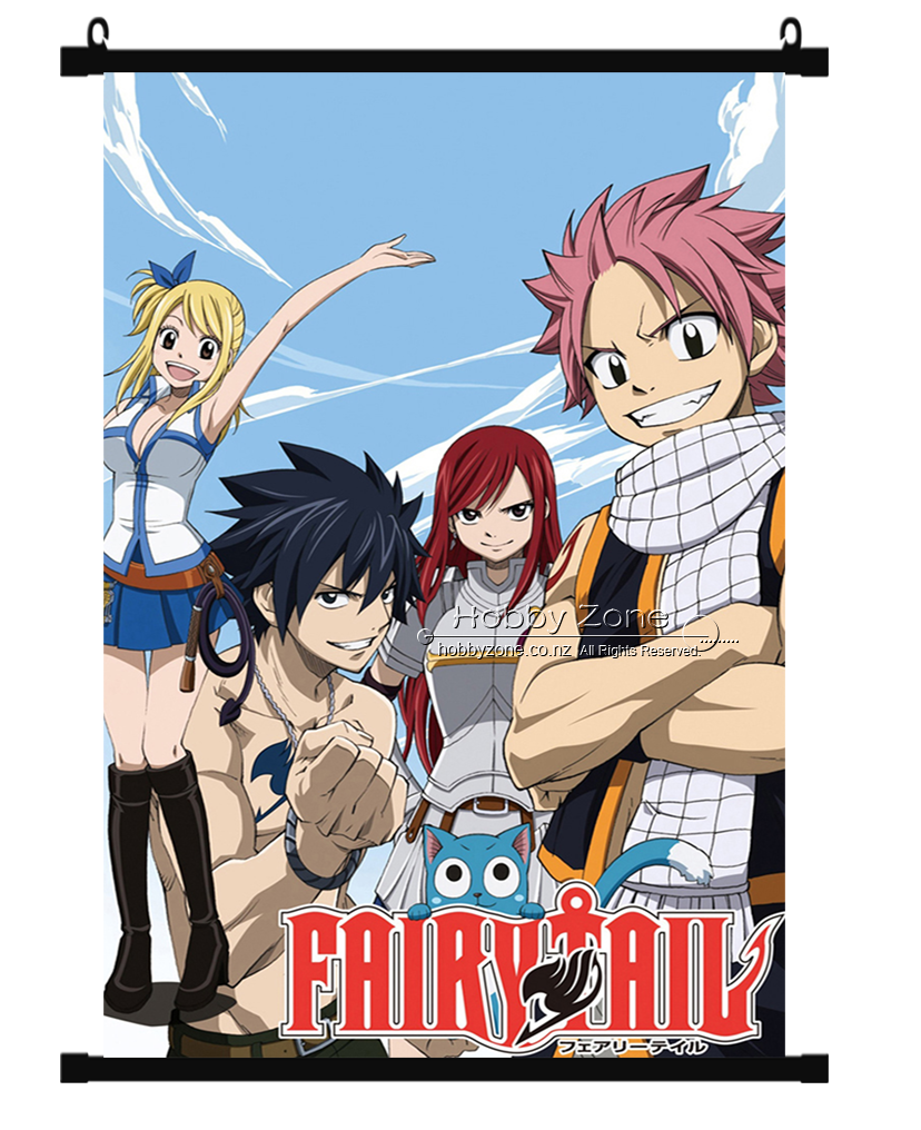 Anime Fairy Tail Group Wall Scroll 04