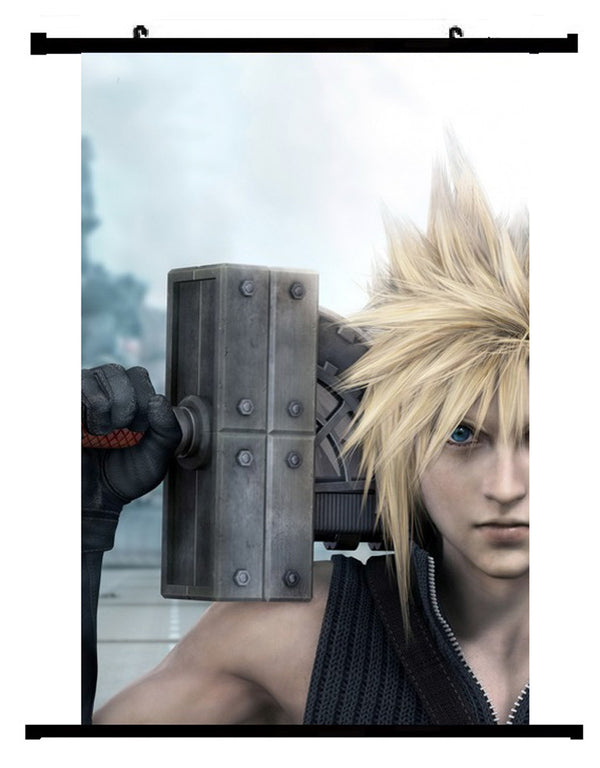 Video Game Final Fantasy VII Cloud Wall Scroll 01
