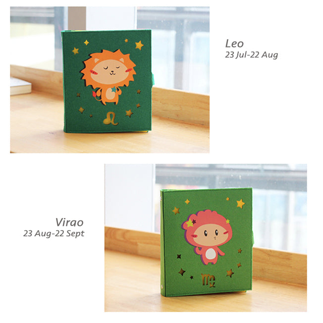 Hand Crafted 12 Horoscopes Zodiac Signs Soft Cover Notebook
