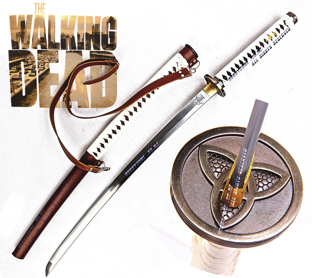 The Walking Dead Michionne's Hand-Forged Full Tang Samurai Katana Sword