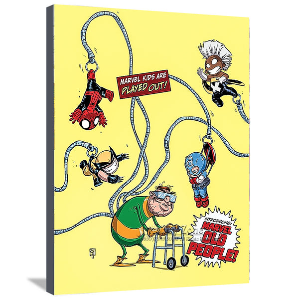 Superhero Old People Canvas