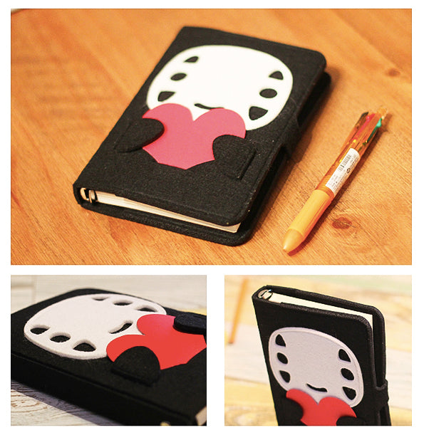 Hand Crafted Totoro No face Soft Cover Notebooks