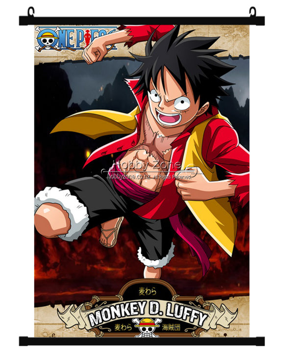 Anime One Piece Monkey D. Luffy 2 Years After Wall Scroll 01