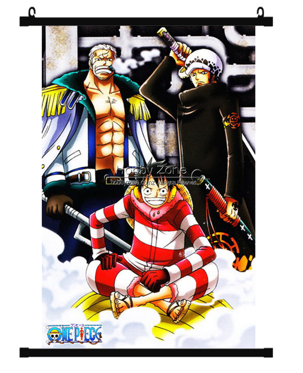 Anime One Piece 2 Years After Group Wall Scroll 01