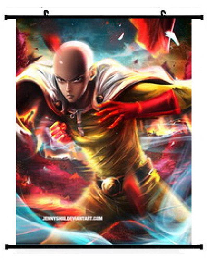 Anime One Punch Man Saitama Wall Scroll 01