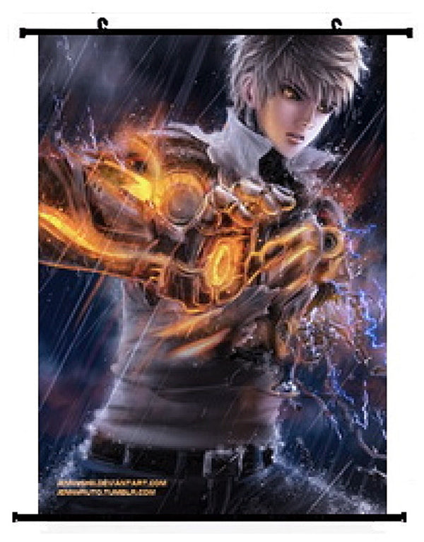 Anime One Punch Man Genos Wall scroll 02