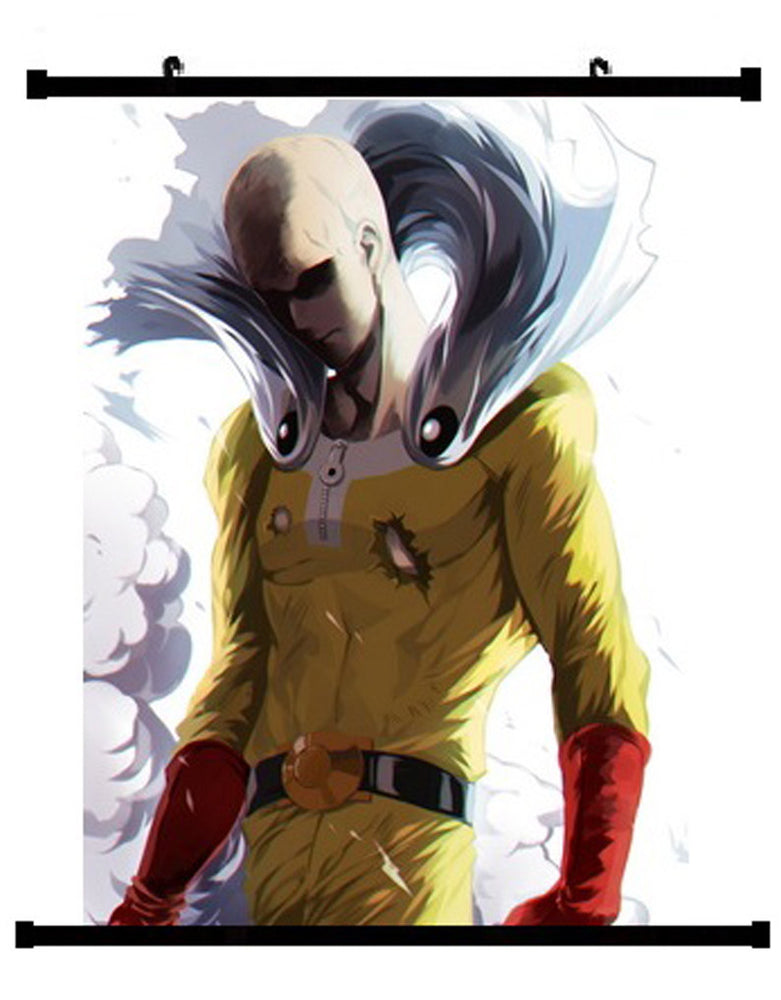 Anime One Punch Man Saitama Wall Scroll 03