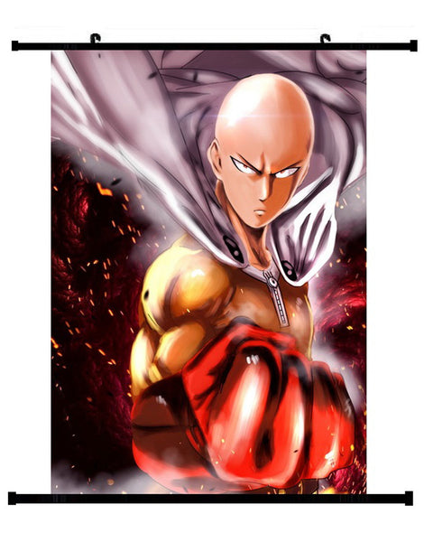 Anime One Punch Man Saitama Wall Scroll 02