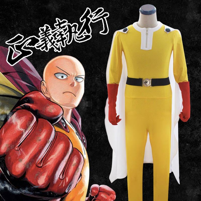One Punch Man Saitama Full Cosplay Costume