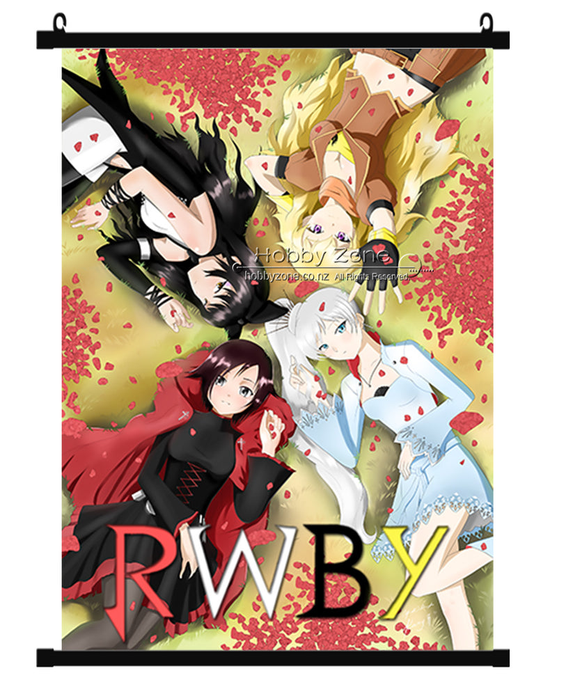 Anime RWBY Group wall scroll 01