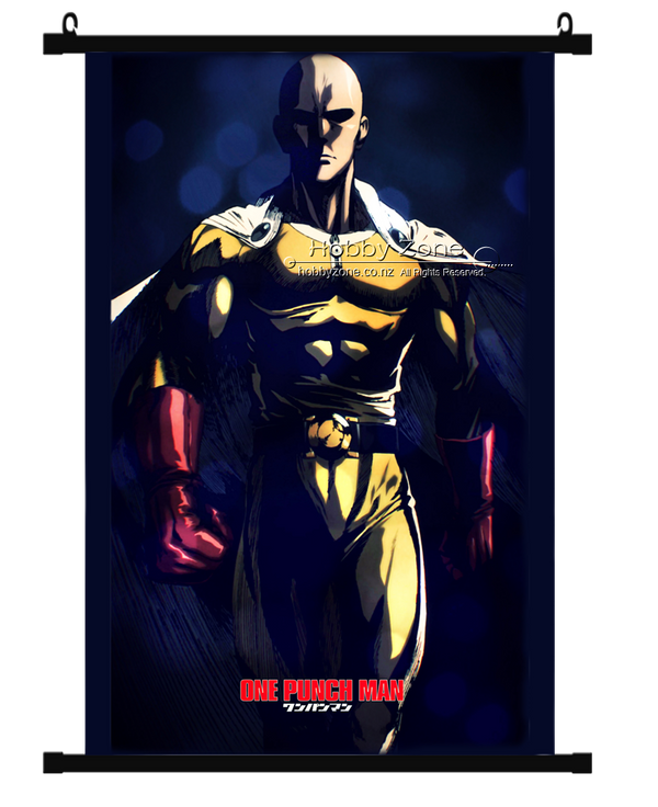 Anime One Punch Man Saitama Wall Scroll 04