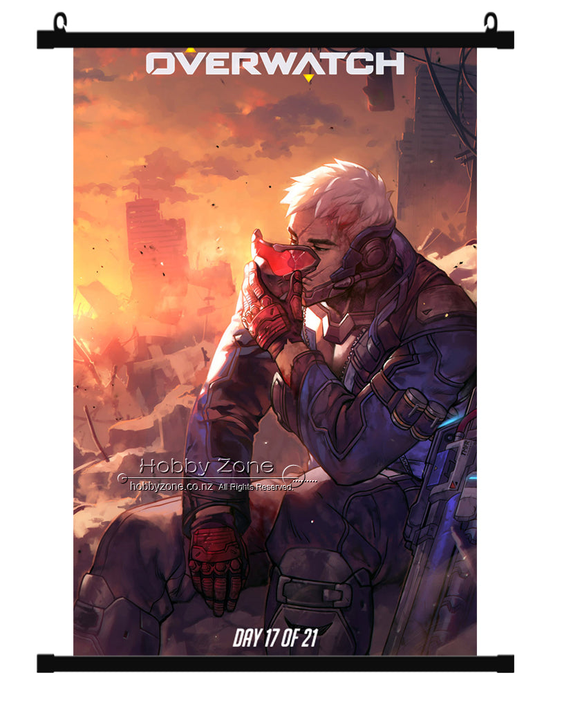 Overwatch Soldier:76 Jack Morrison Wall Scroll 02