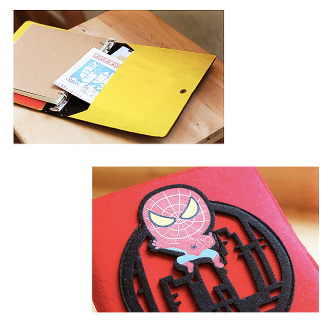 Hand Crafted Superhero Soft Cover Notebook Collection
