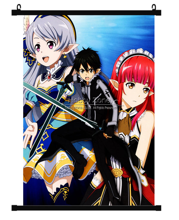 Sword Art Online Lost Song Group Wall Scroll 01