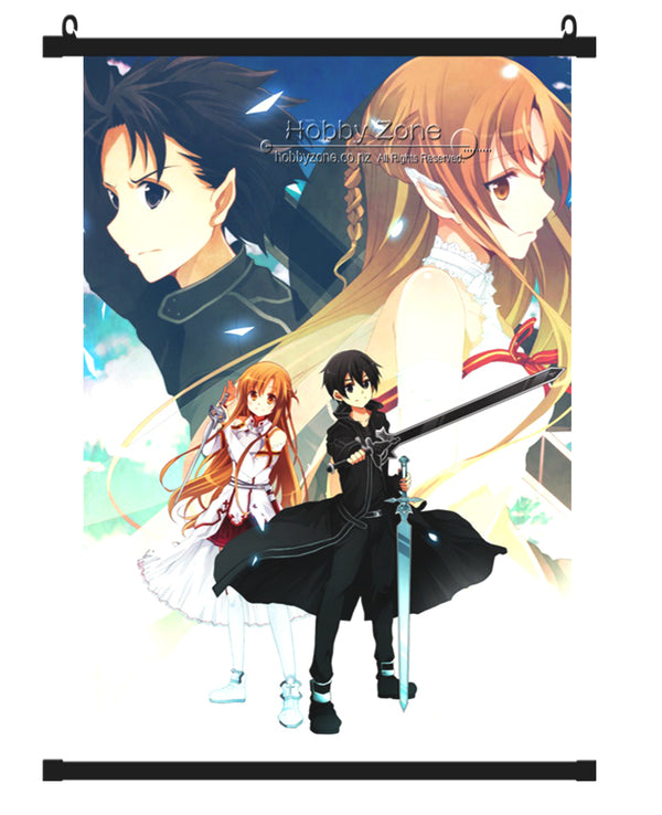 Sword Art Online Kirigaya Kirito & Asuna Yuuki Wall Scroll 05