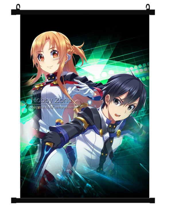 Sword Art Online Kirigaya Kirito & Asuna Yuuki Wall Scroll 07