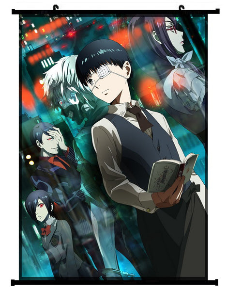 Anime Tokyo Ghoul Group Wall Scroll 01