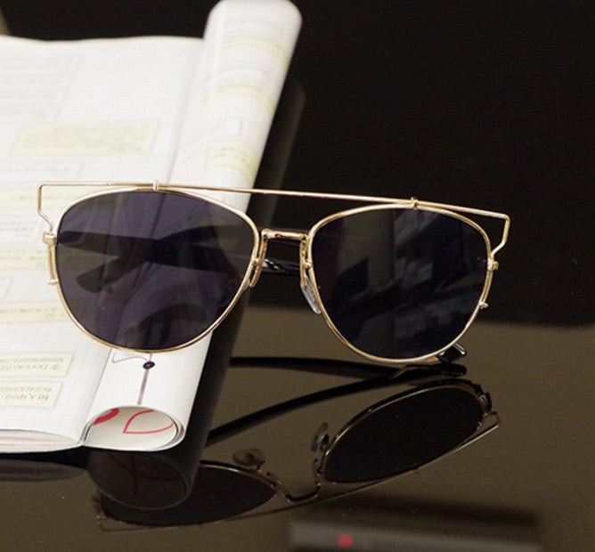 Technologic Reflective Metal Frame Sunglasses