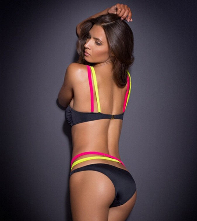 Push Up Ribbon Bandage Bikini