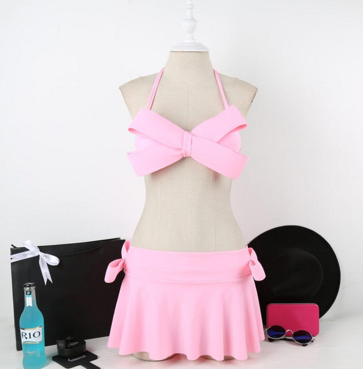 Brazilian Big Bow Bandeau Halter Swimsuit