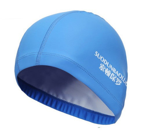 Elastic Waterproof PU Fabric Swimming Cap
