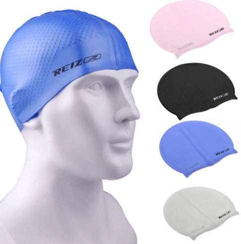 Silica Gel Durable Elastic Unisex Swimming Cap