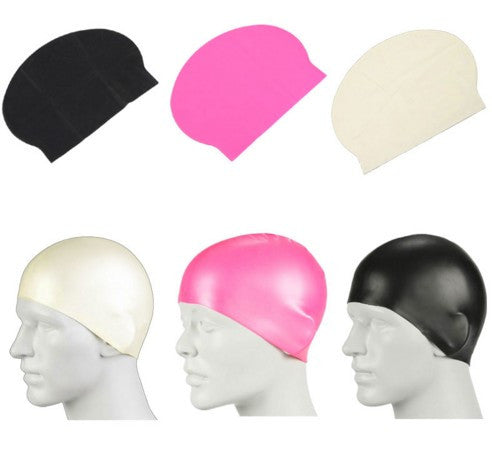 Waterproof Latex Long Hair Sports Swimming Cap
