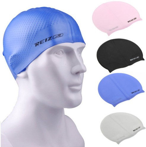 Grainy Particles Silicone Swimming Cap