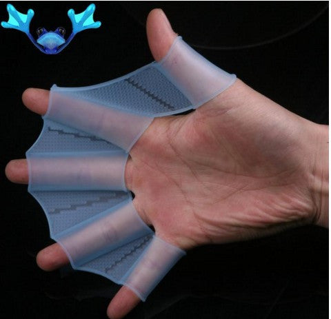 Silicone Hand Swimming Trax Paddles Fins Flippers