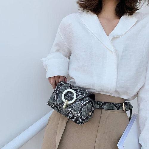 PU Leather Waist Bag