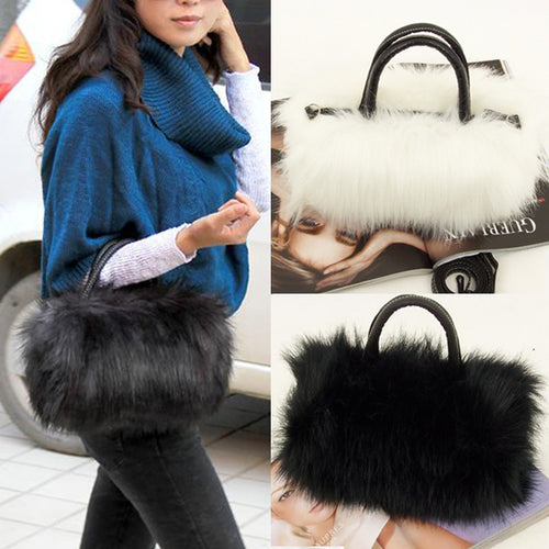 Faux Fur Leather Bag