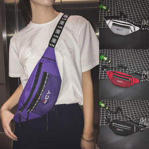Zipper Canvas Waist Bag