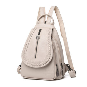 Female Leather Backpack