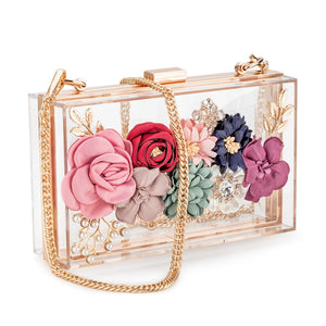 Acrylic Flower Clutch