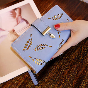 Women Hollow Leaves Pouch Handbag
