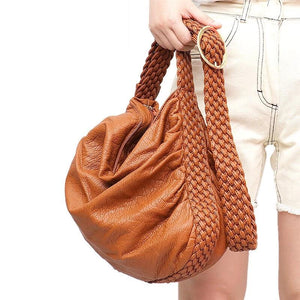 Adjustable Woven Buckle Belt Bag