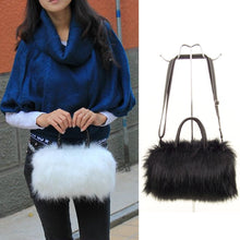 Load image into Gallery viewer, Faux Fur Leather Bag