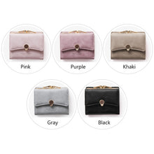 Load image into Gallery viewer, Three Fold PU Leather Coin Wallet