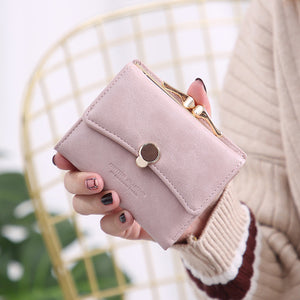 Three Fold PU Leather Coin Wallet