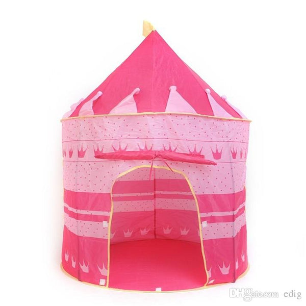 PINK/BLUE A Beautiful Cubby House Portable Foldable Folding Castle Kid Child Baby Play Tent Fun Playhouse Outdoor Indoor Tent Den Prince - thefashionique