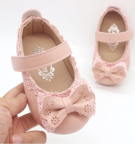 1 2 3 4 5 6 7 Years Baby Toddler Little Girls Bow Party And Wedding Dress Shoes For Girls White Pink Black Leather Shoes New - thefashionique