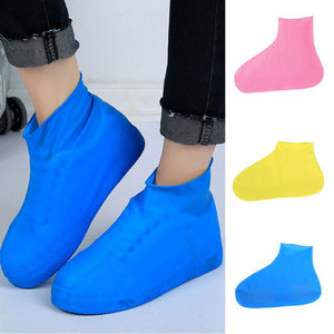 1 Pair Anti-slip Reusable Latex Shoe Covers Waterproof Rain Boot Overshoes Unisex Shoes Accessories For Men Women - thefashionique