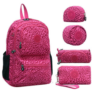 100% Original Casual Mochila Escolar Feminina Backpack School Bag For Teenager Girl Nylon Waterproof Backpacks Female Kiple - thefashionique