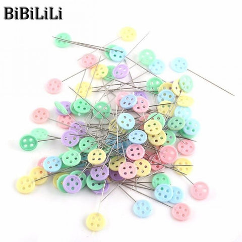 100Sets/lot Sewing Accessories Patchwork Flower/Bow tie/Button Pins Sewing Pin With Box DIY Sewing Patchwork Pins Arts Crafts - thefashionique