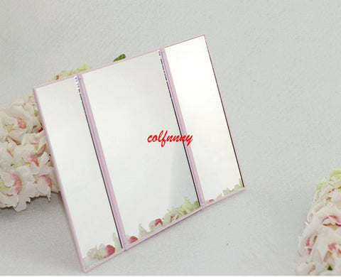 100pcs/lot Portable Fashion LED Screen travel Vanity Mirror Folding Table Lights Luminous Professional Cosmetic Makeup Mirror