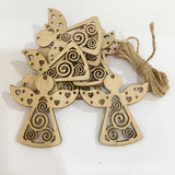10PCS DIY Christmas Snowflakes&Deer&Tree Wooden Pendants Ornaments Christmas Party Decoration Xmas Tree Ornament Xmax Kids Gifts - thefashionique