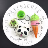 10Pcs/Lot Small Cute Bread Cell Phone Decoration Random Squishy Soft Panda/Bread/Cake/Buns Phone Straps Pendant - thefashionique