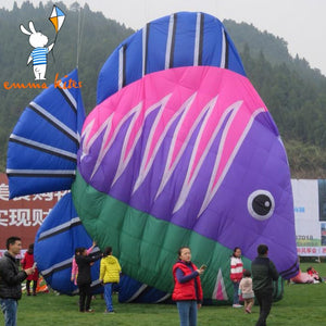 10m Large Soft Kite 4 Colors Fish Shape Inflatable Kite Ripstop Nylon Material For Show Activity