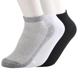 10pair=20Pcs/lot Men Sock Thin Socks Short Deodorize Socks Cotton Men Casual Wear black gray white Couple Short Sock Drop Ship - thefashionique